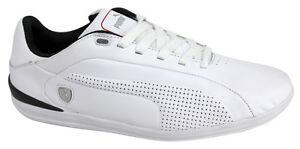 Puma-Gigante-Leather-SF-Ferrari-Lace-Up-Mens-Trainer-White-305277-01-D114