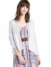 Lucky Brand - L - NWT - Lilac Mixed Media Chiffon & Knit Open Cardigan Sweater