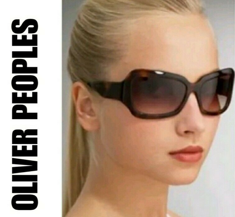 Oliver Peoples Athena Sunglasses Marbled Brown and Gold Authentic