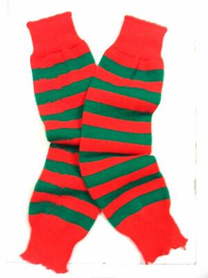 Baby Girl Christmas Elf Socks Baby Girl Clothes Green White Striped Leg Warmers Going Home Set Christmas Leg Warmers Girls Elf Costume