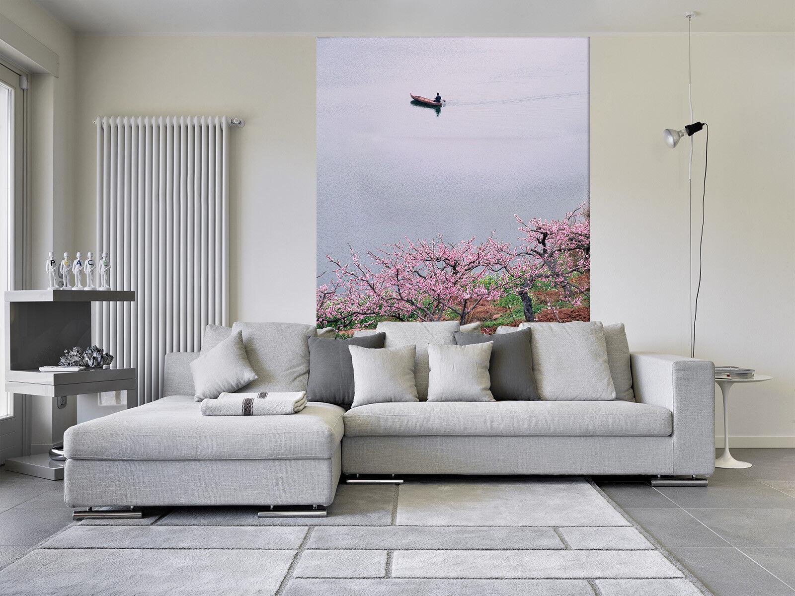 3D Peach Flowers Sea 7 Wall Paper Murals Wall Print Wall Wallpaper Mural AU Kyra