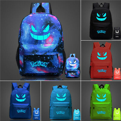Pokemon Luminous Galaxy Travel Rucksack Backpack School Bag Boys Girls Satchel