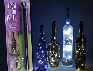 Fortune Light My Way LED Bottle Light 2 Pack Mini Fairy String Lights Wine Decor eBay