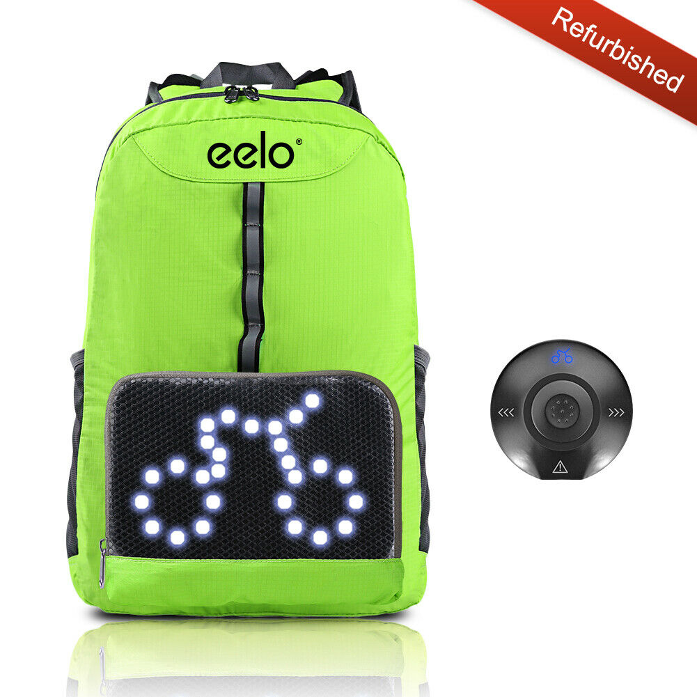 Radfahren Fahrrad Backpack eelo with Safety Visibility LED Signal Lights REFURBISHED