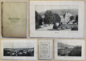 Orig-Prospekt-Bad-Elster-1912-Sachsen-Kurort-Ortskunde-Landeskunde-Geografie-xy