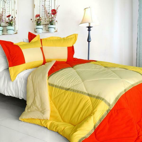 Summer Sunrise Down Alternative Comforter Set twin queen or king - Gelb rot