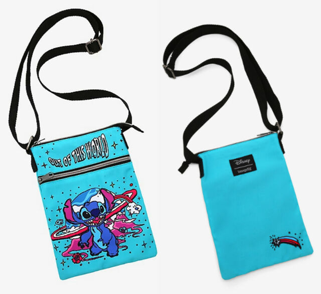 Loungefly Disney Lilo and Stitch Passport Crossbody Bag Purse Out of This World