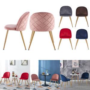 Velvet Kitchen Chairs Wood Metal Legs