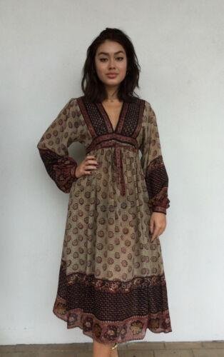Vintage VTG 1970s 70s Designer Ritu Kumar Silk Sem
