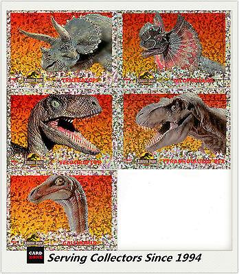 Australia Dynamic Jurassic Park Trading Cards Prism Card Full Set (5) Rare