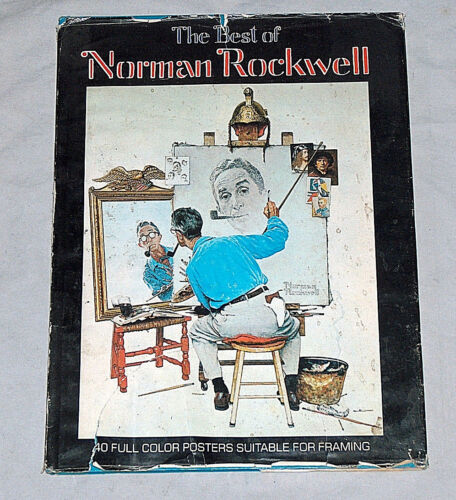 1979 NORMAN ROCKWELL BEST 40 COLOR POSTERS FOR FRAMING HARDCOVER BOOK W JACKET