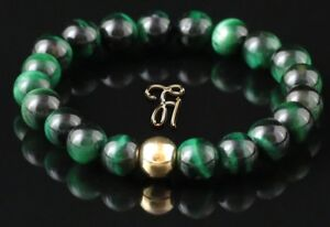 Tigerauge-925er-sterling-Silber-vergoldet-Armband-Bracelet-Perlenarmband-gruen