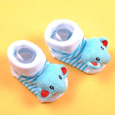 Soft Newborn Baby Girl Boy 0-6 Months Anti-slip Socks Animal Shoes Boots