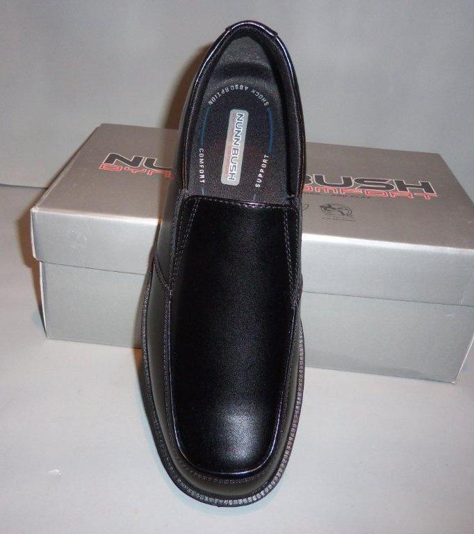 Nunn Bush Men's Black Eathan Leather Slip On Loafer shoes SIZES  NIB Ethan