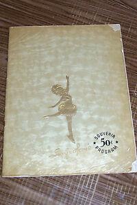 Vintage 1951 Sonja Henie Hollywood Ice Revue Skating Souvenir Program Old