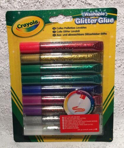 Crayola 9 Couleurs Lavable Paillettes Colle-NEUF Craft Fun MEILLEUR PRIX