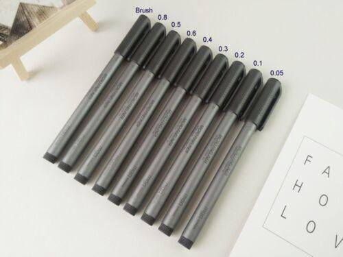 M/&G Micro Pen Fineliner,waterproof,Calligraphy,Drawing Needle gel PenDraft Brush