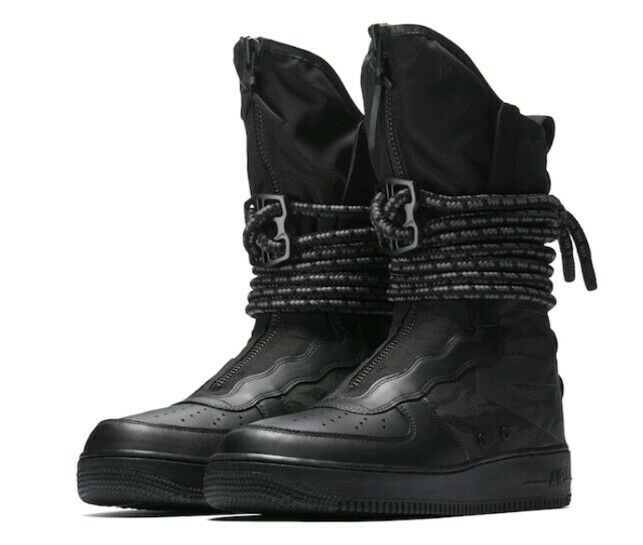 NIKE SF-AF1 HIGH Black Dark Grey Boots Sneakers Size 9.5  200