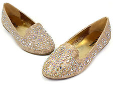 lonita-74k New Kids Toddlers Youth Blink Flat Party Wedding Girl's Shoes Gold 3
