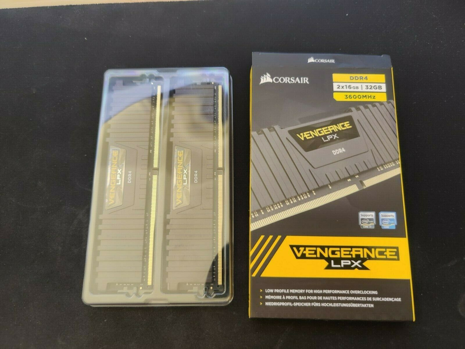 Corsair Vengeance LPX 32GB (2x16GB) DDR4-3600 CMK32GX4M2D3600C18 BARELY USED!. Buy it now for 139.00