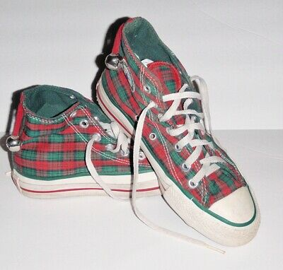 Vintage Plaid Christmas Converse All Star Hi Tops 1980's MADE IN USA Mens 3.5 | eBay