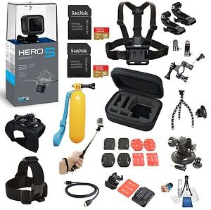GoPro HERO5 HERO 5 Session + 24 Piece Extreme All In One Bundle  *BRAND NEW*