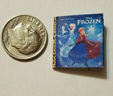Miniature Book Disney Movie Barbie 1/12 Scale   Frozen Elsa Anna Olaf