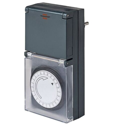 Graver chaise minuterie MZ 44 Mécanique Timer-Prise Murale Noir 1506460