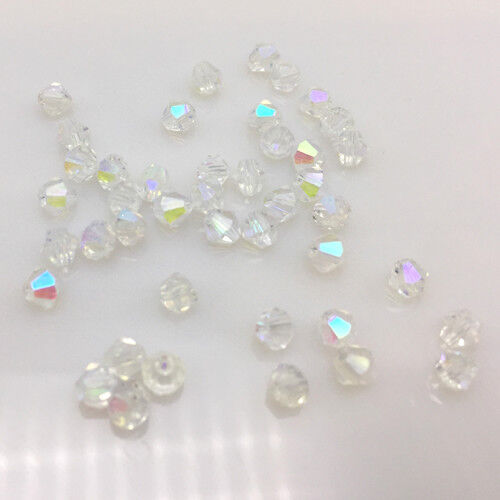 Free shipping 100-1000pcs Austria Crystal 4mm 5301#Bicone Beads YOU Pick color