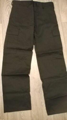 "Mens workwear black action combat cargo work trousers 36"" waist, long leg NEW"