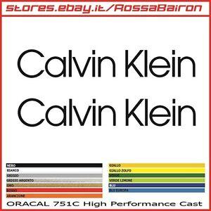 Details About Kit 2 Stickers Calvin Klein Mm100x16 Stickers Pegatinas Decals Aufkleber Show Original Title