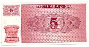 Slovenia-5-tolarjev-1990-FDS-UNC-pick-3-lotto-3326