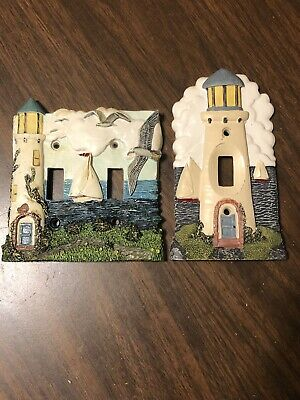 Lighthouse Nautical Light Switch Cover Wall Plate 3D New