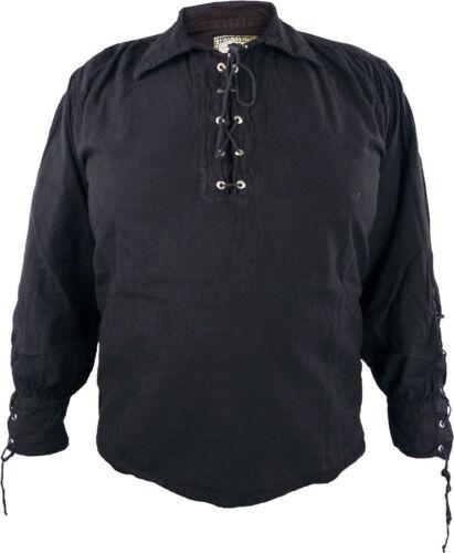 Pirate Shirt Lace-Up Shirt Medieval Shirt Knight Larp Bondageshirt in 3 Colours