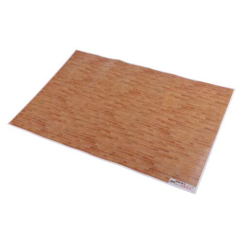 1//12 Puppenhaus Dekoration Essentials Bodenplatte Aufkleber Wand Papierkarte
