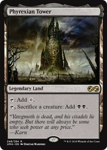 1x Phyrexian Tower - Foil NM-Mint, English Ultimate Masters MTG Magic