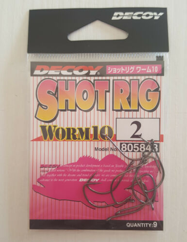 Black Bass Drop Shot Ami Decoy worm 10 Shot Rig Freshwater