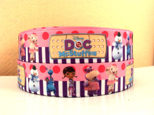 2 METRE DOC MCSTUFFIN FRIENDS RIBBON SIZE 1 INCH BOWS HEADBANDS HAIR CLIPS