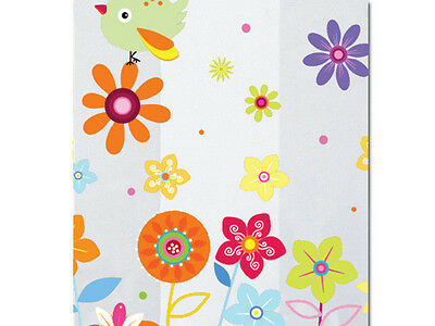 Birds Flowers Print Cello Clear Cellophane Candy Gifts Goody Favor Party 50 Bags