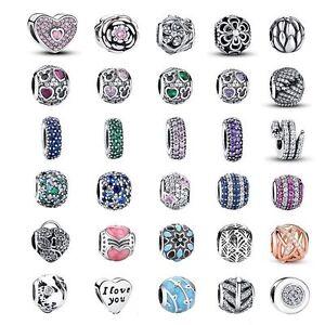 European-Women-925-Silver-Charms-Beads-Pendant-Fit-sterling-Bracelet-Necklace