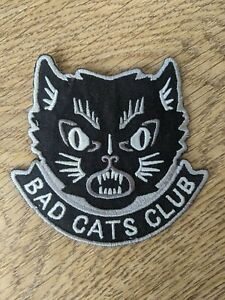 BAD CATS CLUB Patch Cat Lovers Kitten Denim Leather Jacket Sew-On Iron-On