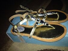 Stevies by Steve Madden-Girls Size 1 Silver #GLITZY Embellished Sandals-New!!