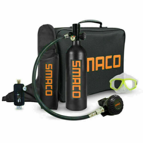 Scuba Diving Respirator 1L Oxygen Cylinder Air Tank Underwater Kit SMACO S400