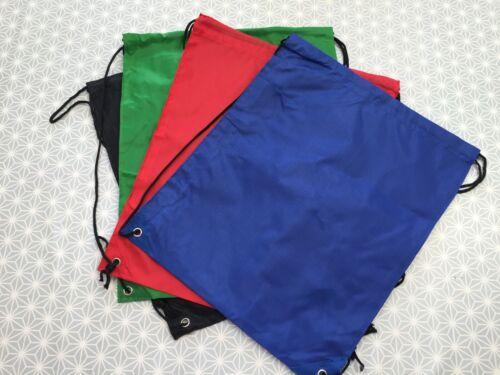 Scrub Bag Gym Bag Swim Bag Blue Black Red Green /'Woven Style/' PVC