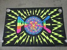 "Vintage poster ""Peace Symbol"" Black light Heavy Paper silkscreen 14x14 grn//blk"