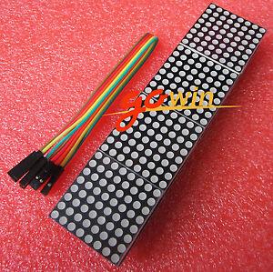 MAX7219-Microcontroller-4-In-1-Display-with-5P-Line-Dot-Matrix-Module-Arduino
