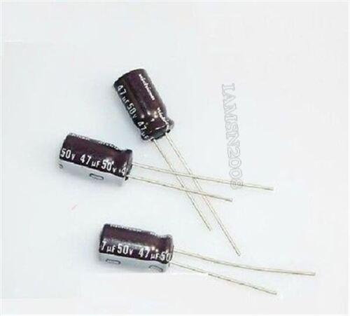 20Pcs 47Uf 50V 105C Elektrolytkondensator lp