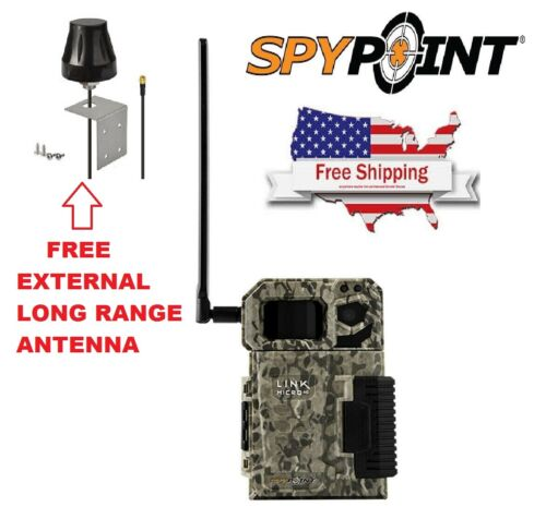 New Spypoint Link-Micro 4G AT/&T USA Cellular 10MP Game Trail Camera FREE ANTENNA