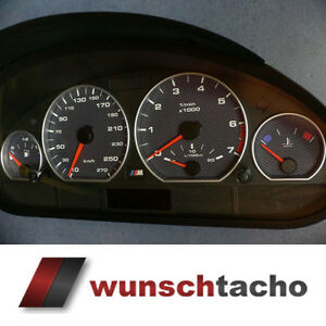 Tachoscheibe-fuer-Tacho-BMW-E46-Alp-Carbon-270-Kmh-Diesel