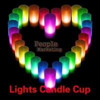 New Candle light Flicking LED 7 Color Changing Flameless lights Lamps Romantic